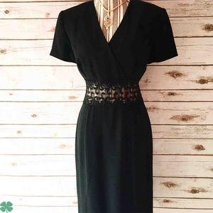 Maggy London Black Short Sleeve Dress Size 8